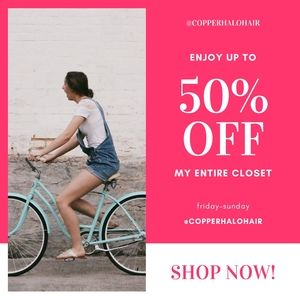 my entire closet is 50% off! no exclusions*